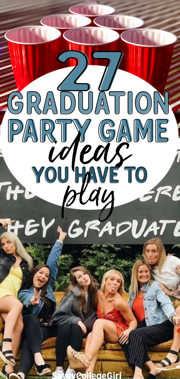 Graduating is a major milestone! Celebrate it in style and make it a truly monumental event with these 27 fun graduation party games and ideas everyone will love! #graduation #partyideas #graduationideas