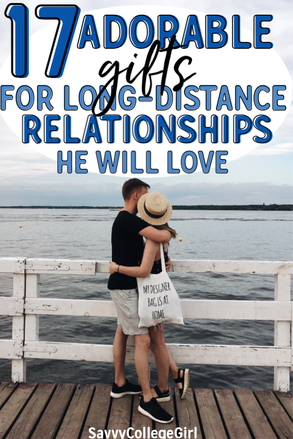 The best long distance relationship gifts for him. These adorable gift ideas for boyfriend are sure to impress him. From loving and thoughtful gifts to cute and quirky, there's something here for EVERYONE #giftsforhim #giftideas #longdistancerelationship