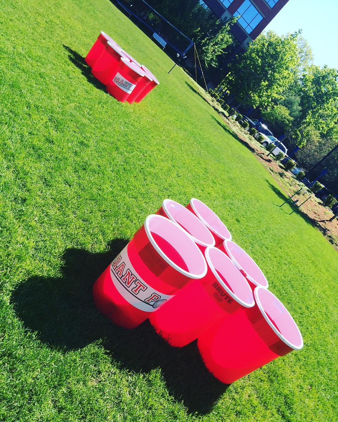 Giant Pong - Graduating is a major milestone! Celebrate it in style and make it a truly monumental event with these 27 fun graduation party games and ideas everyone will love! #graduation #partyideas #graduationideas