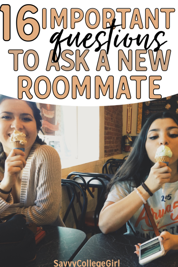 Getting to know your roommate in college is VERY important! Trying to figure out whether or not you guys get along and working through issues is essential to an enjoyable freshman year at university. These questions are super important to ask future college roommates before moving in #college#freshman#collegetips#dorm