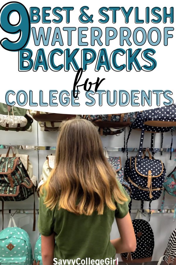 Looking for a great waterproof college laptop backpacks for university? These backpacks are PERFECT for your freshman year to senior. Find a great waterproof backpacks for uni! #backpacks #backpacksforcollege #college #collegetips