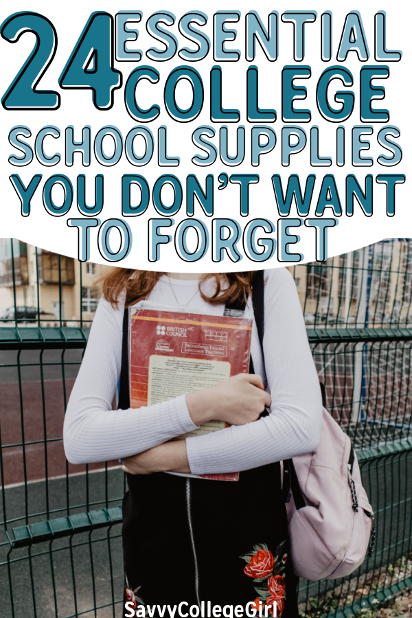 Starting freshman year on the right foot means getting the right college school supplies! These are the essential back-to-school items I couldn't live without. You don't want to go to class without these school necessities #college #schoolsupplies #collegeessentials