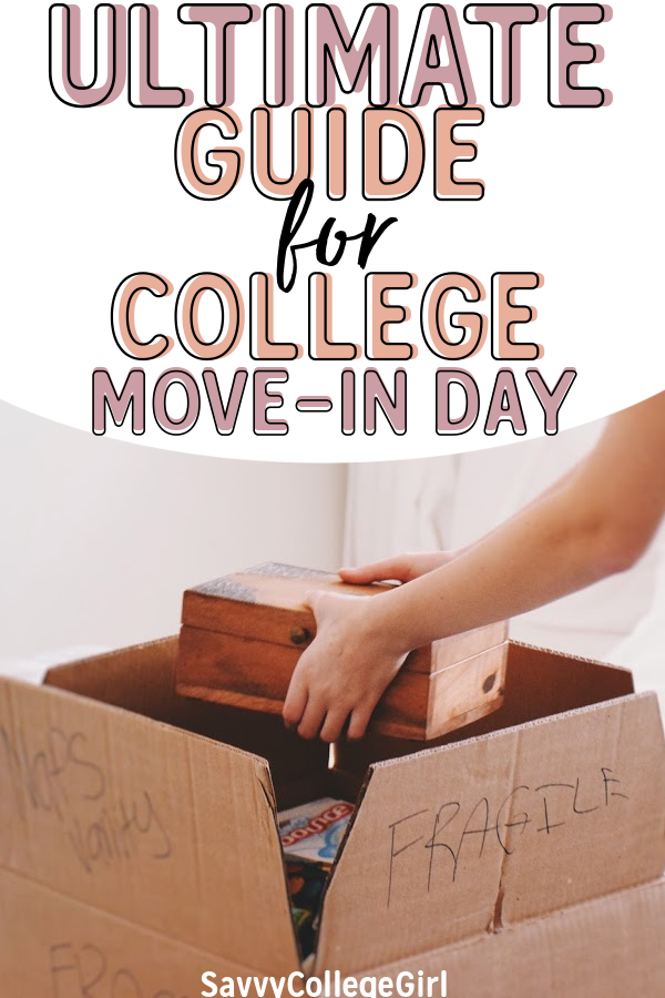 Learn what to expect on college move-in day from a student who's been there! Best tips & tricks to make move-in day go smoothly and stress-free! Best advice for freshman on college move-in | moving into a dorm | prepping for move-in | move-in day | dorm tips | college dorm #college #collegemoveinday #freshmantips