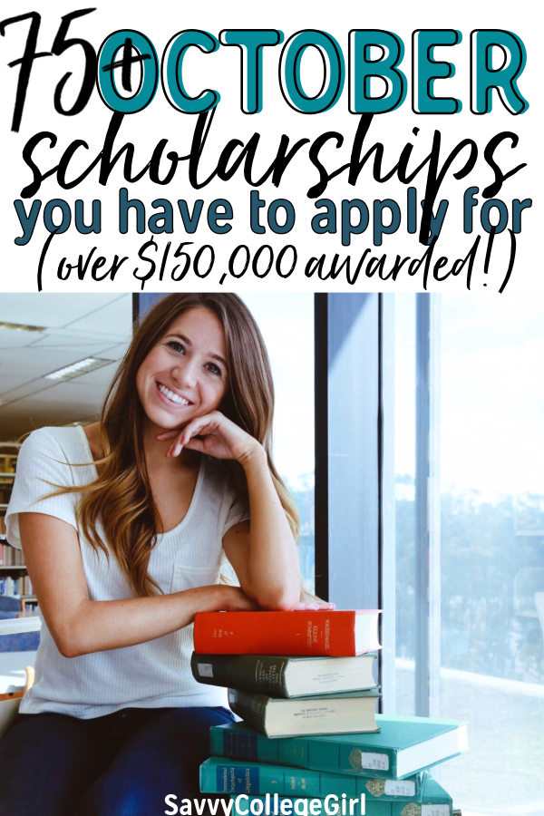 Paying for college is HARD! Apply for October scholarships that are a game-changer. This comprehensive October scholarship list is a MUST-SAVE! FALL Scholarships with October deadlines #college #scholarships #fallscholarships #octoberscholarships
