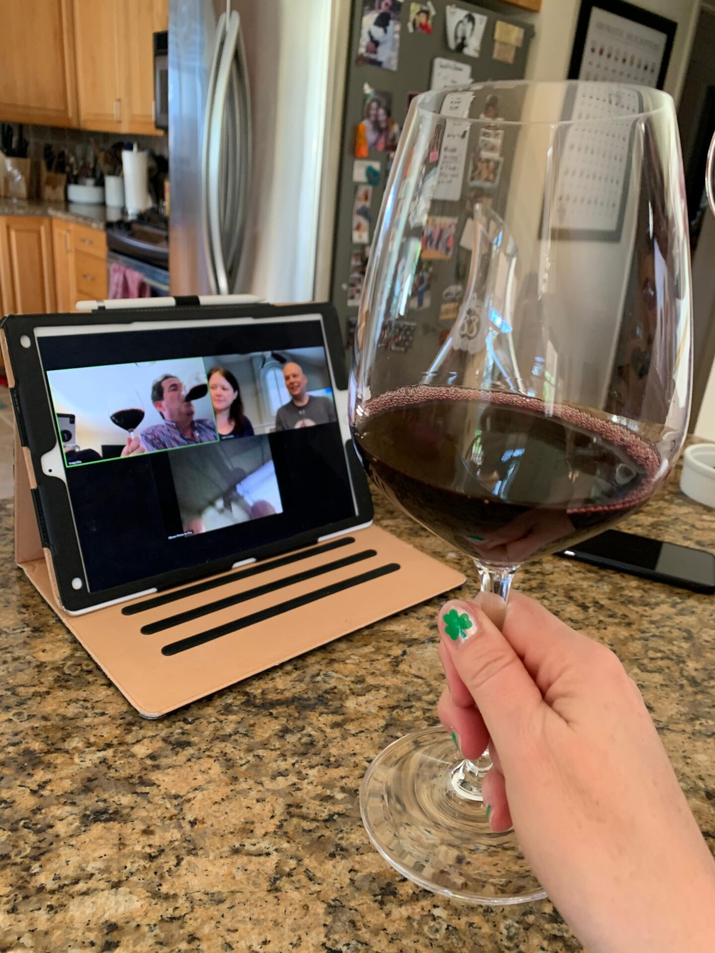 Virtual graduation ceremony ideas with wine and zoom