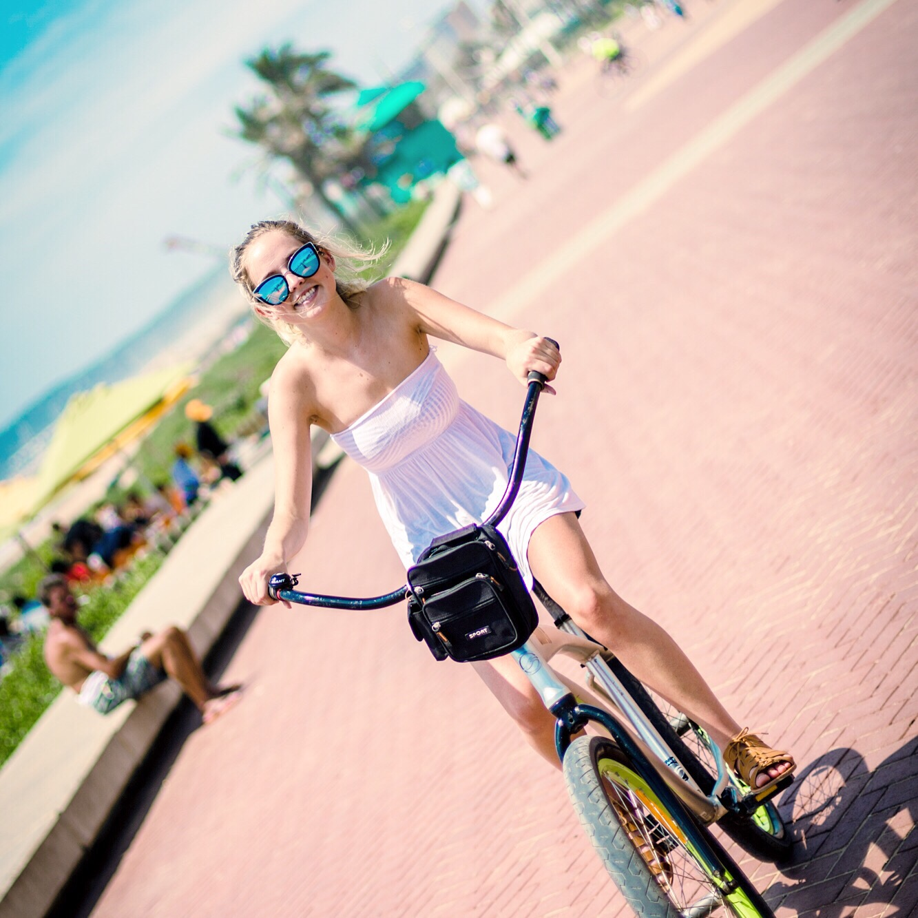 go for a bike ride during college summer break
