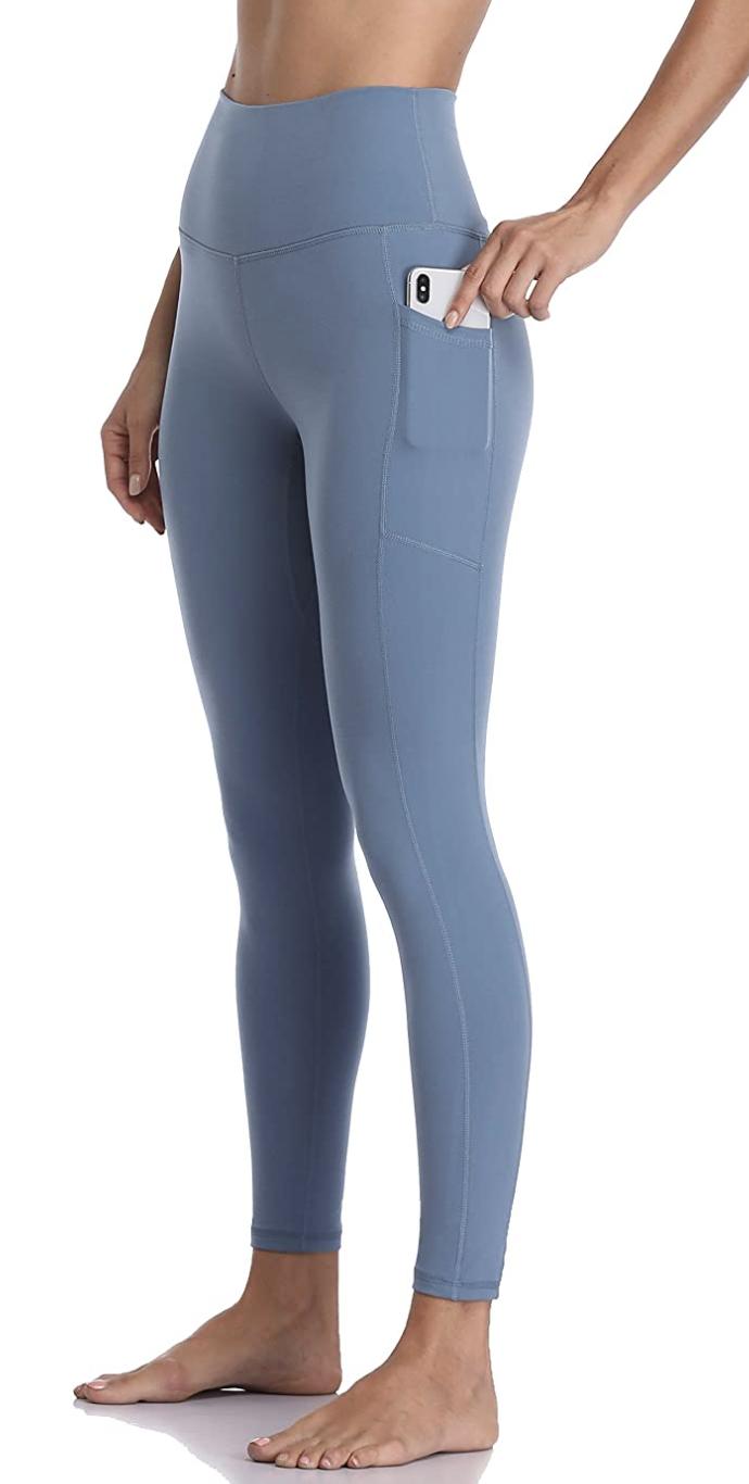 High Waisted Yoga Pants 7/8 Length Leggings with Pockets